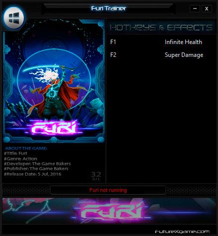 Furi — трейнер для версии 1.0 (+2) FutureX