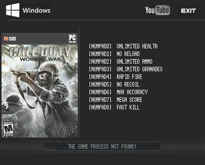 Call of Duty: World at War — трейнер для версии 1.7.1263 (+9) LIRW