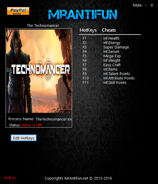 The Technomancer — трейнер для версии 1.0 (+11) MrAntiFun