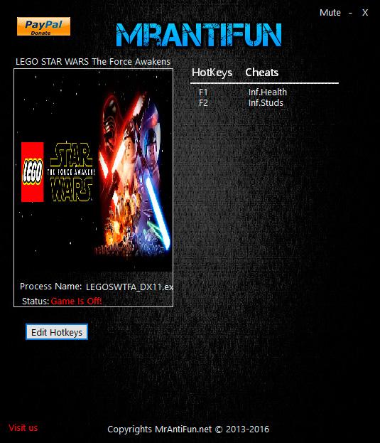 LEGO Star Wars: The Force Awakens — трейнер для версии 1.0 (+2) MrAntiFun