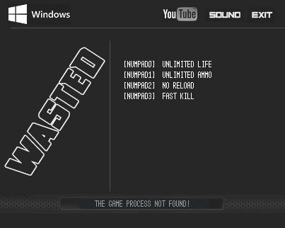 WASTED — трейнер для версии 1.0 (+4) LIRW
