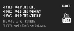 Broforce — трейнер для версии 5399 (+3) LIRW