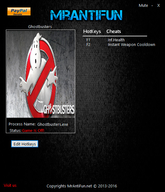Ghostbusters — трейнер для версии 1.0 (+2) MrAntiFun