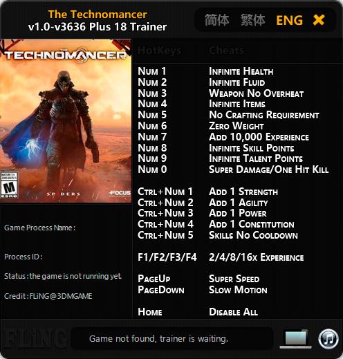 The Technomancer — трейнер для версии 3636 (+18) FLiNG