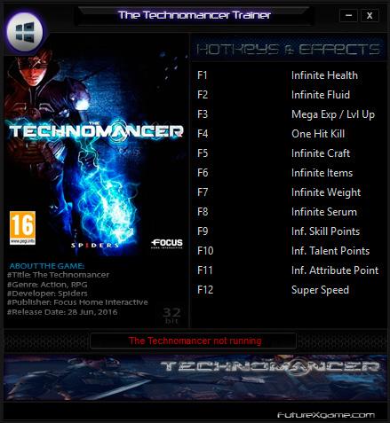 The Technomancer — трейнер для версии 1.0 (+12) FutureX