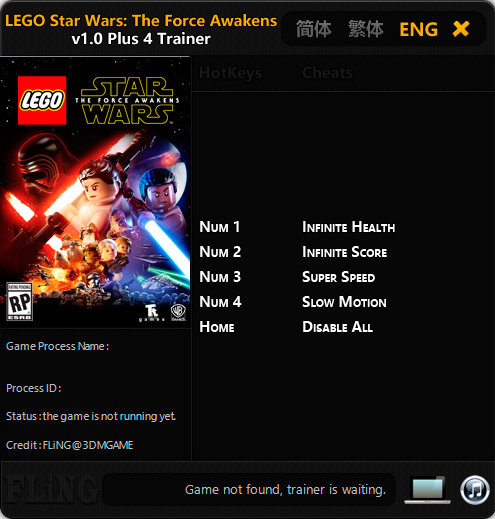 LEGO Star Wars: The Force Awakens — трейнер для версии 1.0 (+4) FLiNG [64-bit]