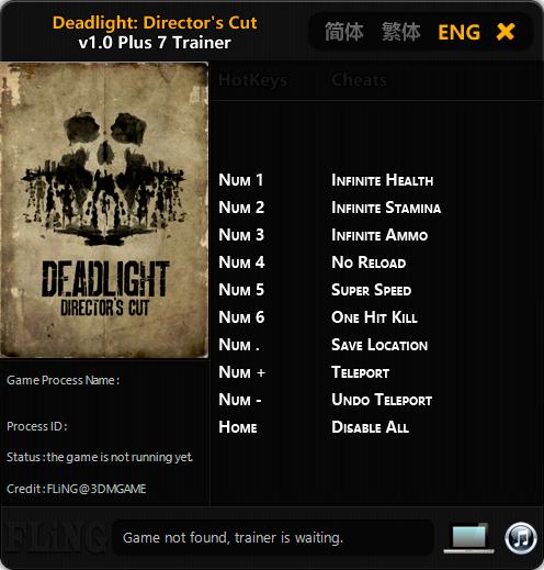 Deadlight: Director's Cut — трейнер для версии 1.0 (+7) FLiNG
