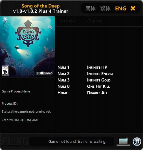 Song of the Deep — трейнер для версии 1.0.2 (+4) FLiNG