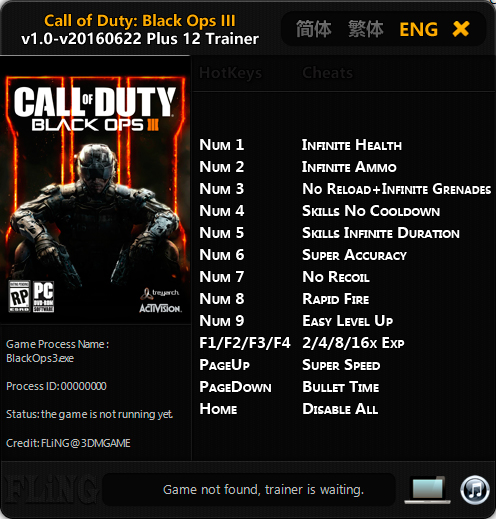 Call of Duty: Black Ops 3 — трейнер для версии от 22.06.2016 (+12) FLiNG