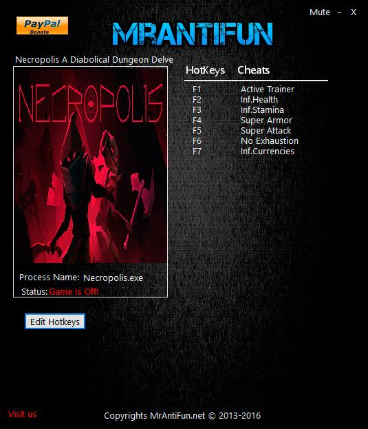 Necropolis: A Diabolical Dungeon Delve — трейнер для версии 1.0 (+6) MrAntiFun