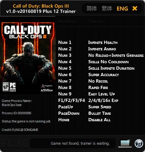 Call of Duty: Black Ops 3 — трейнер для версии u26 (+12) FLiNG