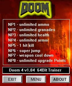 DOOM — трейнер для версии 1.04 (+8) dR.oLLe