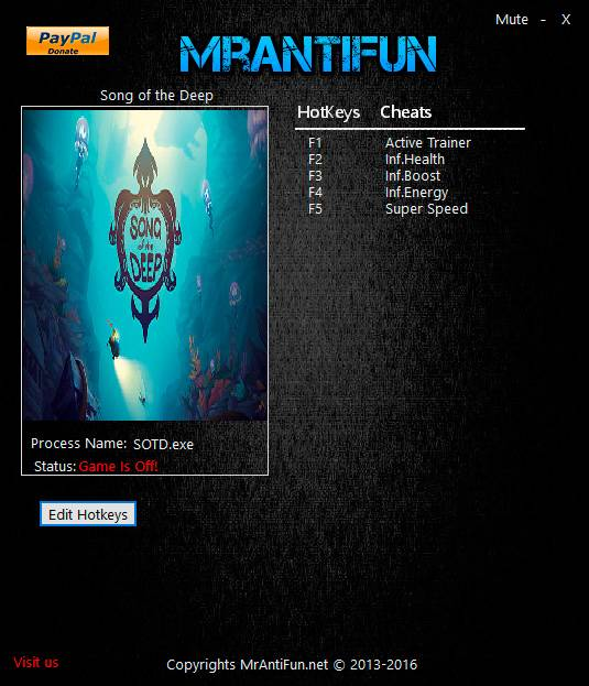 Song of the Deep — трейнер для версии от 06.08.2016 (+4) MrAntiFun