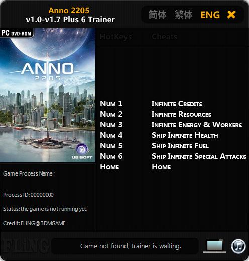 Anno 2205 — трейнер для версии 1.7 (+6) FLiNG