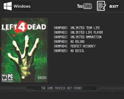 Left 4 Dead — трейнер для версии от 24.03.2016 (+6) LIRW