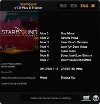 Starbound — трейнер для версии 1.0 (+8) FLiNG [64-bit]