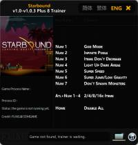 Starbound — трейнер для версии 1.0.3 (+8) FLiNG [64-bit]