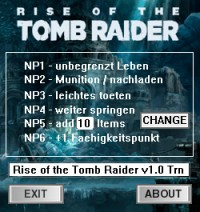 Rise of the Tomb Raider — трейнер для версии 1.0.668.1 (+6) dR.oLLe