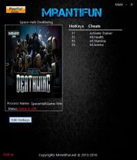 Space Hulk: Deathwing — трейнер для версии 1.74 (+3) MrAntiFun