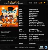 The Escapists 2 — трейнер для версии 1.0.6 (+15) FLiNG