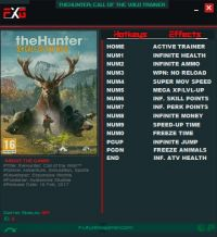 theHunter: Call of the Wild — трейнер для версии 1.13 (+13) FutureX