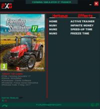 Farming Simulator 17 — трейнер для версии 1.5.1.0 (+3) FutureX [64-bit]