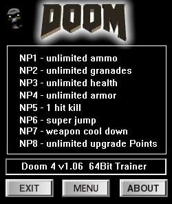 DOOM — трейнер для версии 1.06 (+8) dR.oLLe