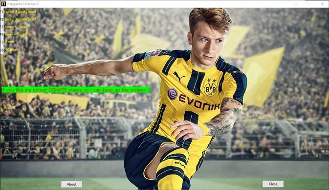 FIFA 17 — трейнер для версии 1.0 (+6) nepgax4o
