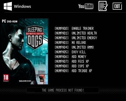 Sleeping Dogs: Definitive Edition — трейнер для версии 1.0 (+9) LIRW