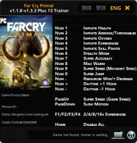 Far Cry Primal — трейнер для версии 1.3.3 (+15) FLiNG