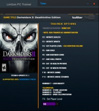 Darksiders II: Deathinitive Edition — трейнер для версии 1.1 (+13) LinGon