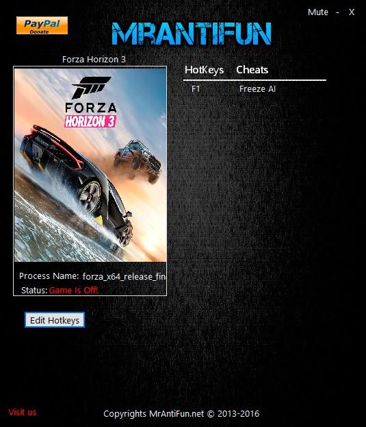 Forza Horizon 3 — трейнер для версии 1.0.14.2 (+1) MrAntiFun