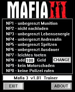 Mafia 3 — трейнер для версии 1.01 (+10) dR.oLLe