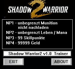 Shadow Warrior 2 — трейнер для версии 1.0 (+6) dR.oLLe