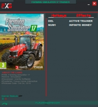 Farming Simulator 17 — трейнер для версии 1.2 (+1) FutureX [64-bit]