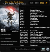 Rise of the Tomb Raider — трейнер для версии 1.0.751.5 (+19) FLiNG
