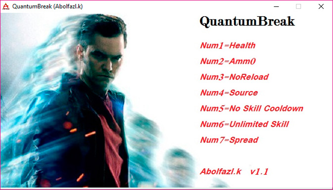 Quantum Break — трейнер для версии 1.1 (Steam) (+7) Abolfazl.K