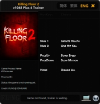 Killing Floor 2 — трейнер для версии 1048 (+4) FLiNG