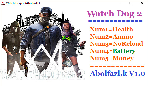 Watch Dogs 2 — трейнер для версии 1.0 (+5) Abolfazl.K