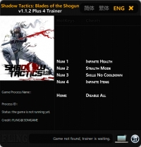Shadow Tactics: Blades of the Shogun — трейнер для версии 1.1.2 (+4) FLiNG