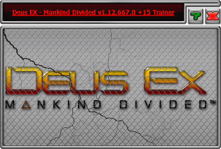 Deus Ex: Mankind Divided — трейнер для версии 1.12 (b 667.0) (+15) iNvIcTUs oRCuS