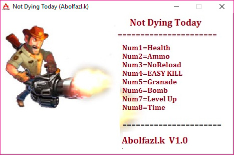 Not Dying Today — трейнер для версии 1.0 (+8) Abolfazl.k
