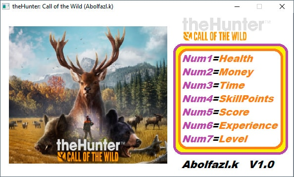 theHunter: Call of the Wild — трейнер для версии 1.0 (+7) Abolfazl.k