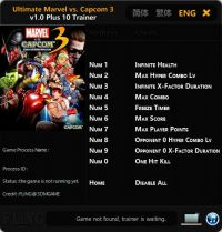Ultimate Marvel vs. Capcom 3 — трейнер для версии 1.0 (+10) FLiNG