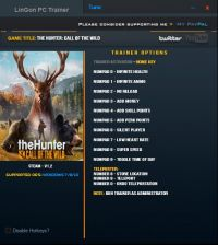 theHunter: Call of the Wild — трейнер для версии 1.2 (+12) LinGon