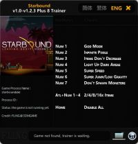 Starbound — трейнер для версии 1.2.3 (+8) FLiNG