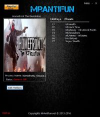 Homefront: The Revolution — трейнер для версии 781464 (+9) MrAntiFun