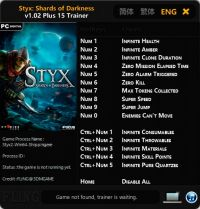 Styx: Shards of Darkness — трейнер для версии 1.02 (+15) FLiNG