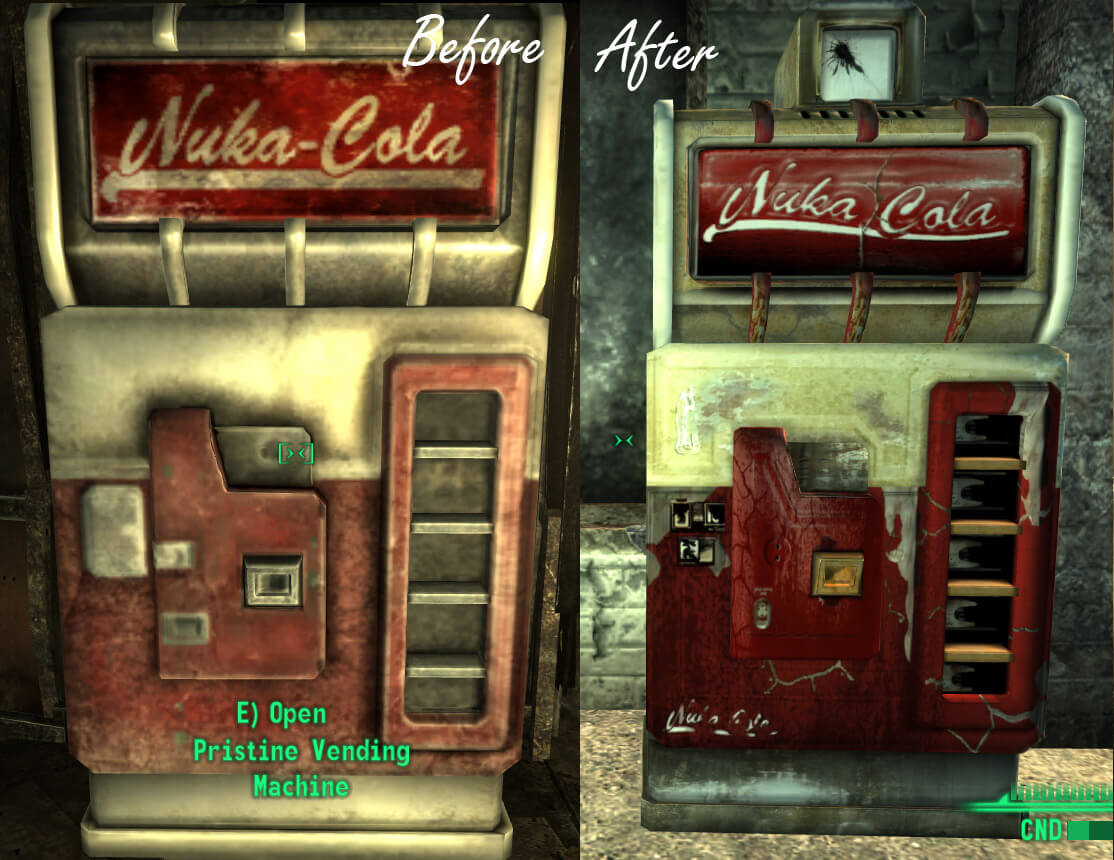 old nuka cola vending machine 3000 для fallout 3 Моды