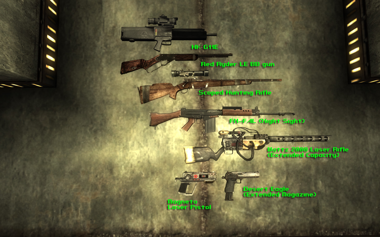 Classic Fallout Weapons BETA для Fallout 3 - Моды